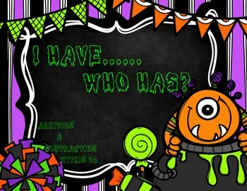I have…Who has? {Halloween Themed 0-30}