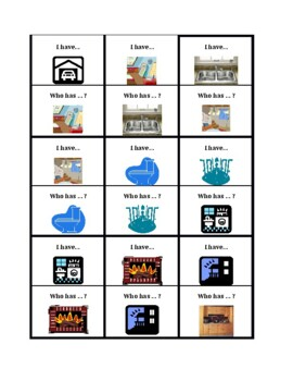 House in English I have Who has