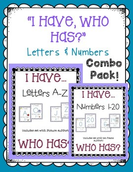 I have, Who has... LETTER & NUMBER recognition COMBO