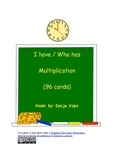 I have - Who has - Multiplication - 96 cards