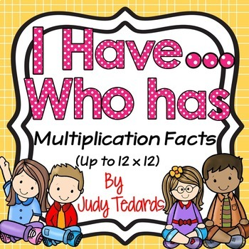 I have...Who has...Multiplication Facts (3 Different Game Sets)