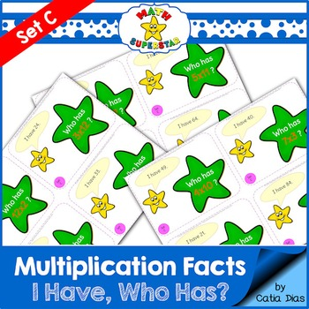 I have-Who has? Multiplication Facts Game Set C