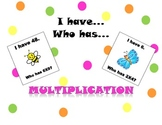 I have Who has Multiplication Set
