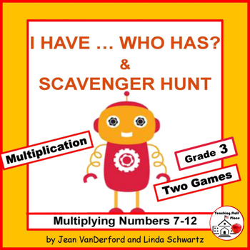 I have, Who has? Multiplication Numbers 7-12 | MATH Task C