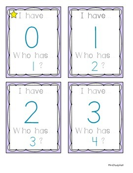 I have, Who has... NUMBER recognition (with ten frames)