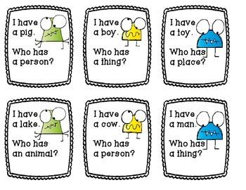 I have Who has Nouns