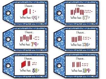 I have, Who has - Number Sense Math Game