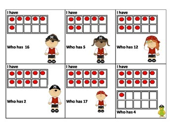 I have... Who has? Number recognition
