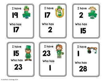 Numbers / St. Patricks Day activities / Number Games