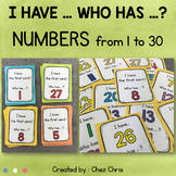 I Have Who Has Game - Numbers from 1 to 30