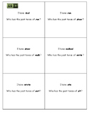 I have... Who has...? - Past tense verbs