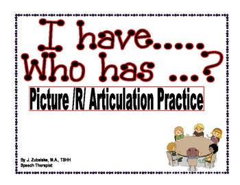 I have... Who has... ? Picture /R/ Articulation Practice G