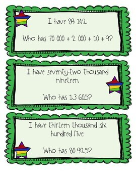I have.. Who has? Place Value Game