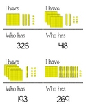 I have, Who has? (Place Value blocks)