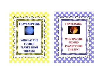 I have... Who has? Planets.