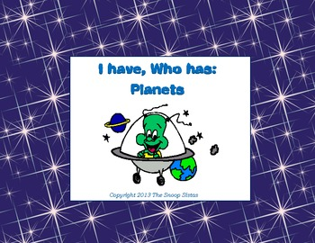 I have, Who has: Planets