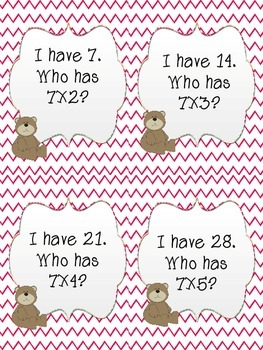 I have, Who has? Review game for multiples of 7, 8, 9 {3 games in ONE!}