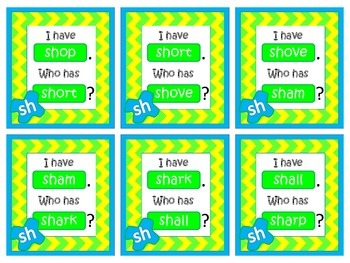 """I have... Who has..."" SH Digraph"