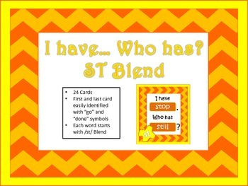 """""""I have... Who has..."""" ST Blend"""