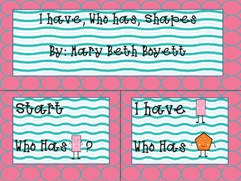 I have, Who has Shape game
