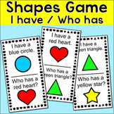Shapes Game - I Have / Who Has Shapes and Colors Math Game