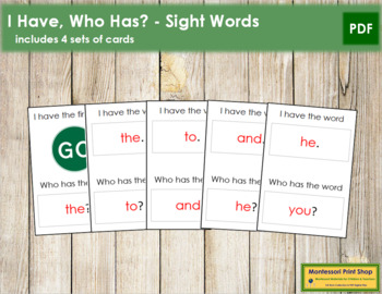I have, Who has? - Sight Words
