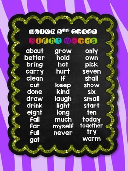 I have, Who has? Sight Words -style {Dolch 3rd Grade}