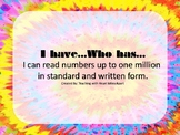 I have…, Who has… Six Digit Numbers in Standard and Writte