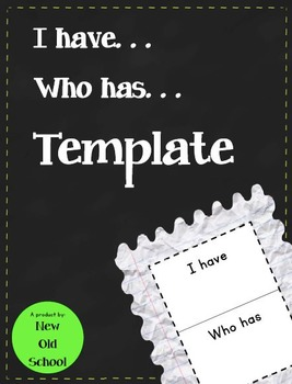 I have Who has Template