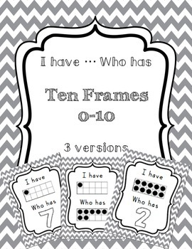 I have ... Who has: Ten Frames 0-10