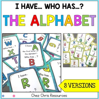 I Have Who Has Game - The Alphabet