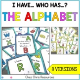 """I Have, Who Has"" Alphabet Game (capital and lowercase letters)"