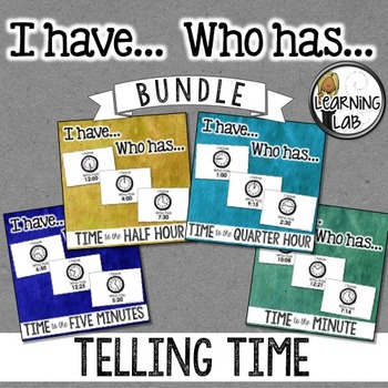 I have... Who has... Time Bundle