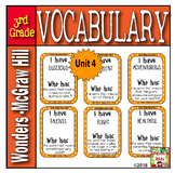 I have- Who has  Vocabulary (Reading Wonders 3rd Grade  UNIT 4)