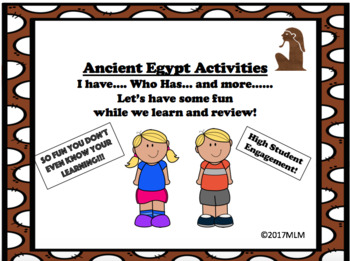 I have...Who has.... Ancient Egypt Vocabulary Review: Plus Bonus Activities