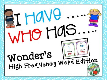 I have, Who has Wonders Edition