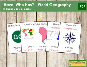 I have, Who has? - World Geography