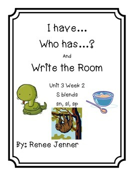 I have Who has and Write the Room First Grade Treasures Unit 3 Week 2