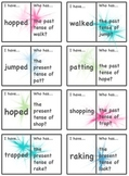 I have.. Who has... cards for past and present tense verb endings