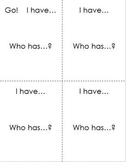 "I have... Who has... ? - customizable 4 1/4"" x 5 1/2"" cards"