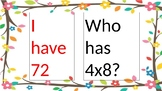 I have, Who has for Multiplication/Division/Fact Families