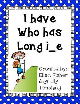 I have Who has long i silent or magic e