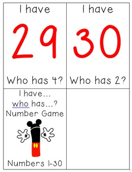 I have.. Who has.. numbers to 30