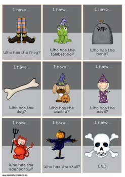 I have ... Who has ... - Halloween
