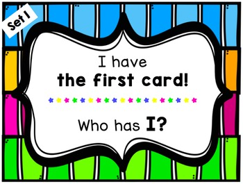 I have Who has sight word cards!