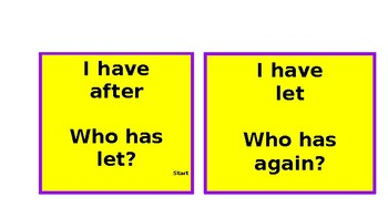I have.... Who has sight word game