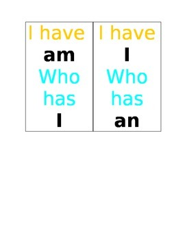 I have, Who has sight words