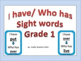 I have/Who has sight words game Grade 1