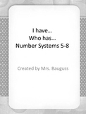 I have, Who has...Integers and Coordinate Grid