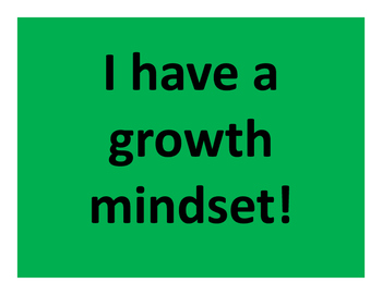 I have a Growth Mindset - Full Page Posters